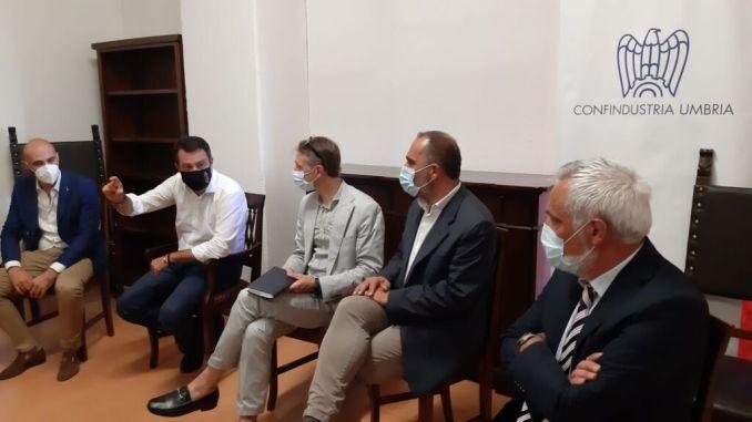 Matteo Salvini a Città di Castello incontra industriali e agricoltori