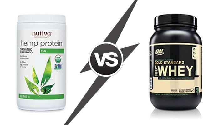 hemp protein vs whey protein - benefits and drawbacks comparison