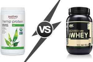 hemp protein vs whey protein - benefits and drawbacks comparison
