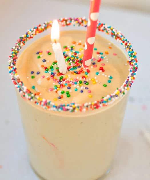 Chocolate Birthday Cake Protein Smoothie Recipe