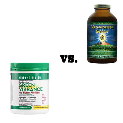 the battle of the greens: green vibrance vs vitamineral green
