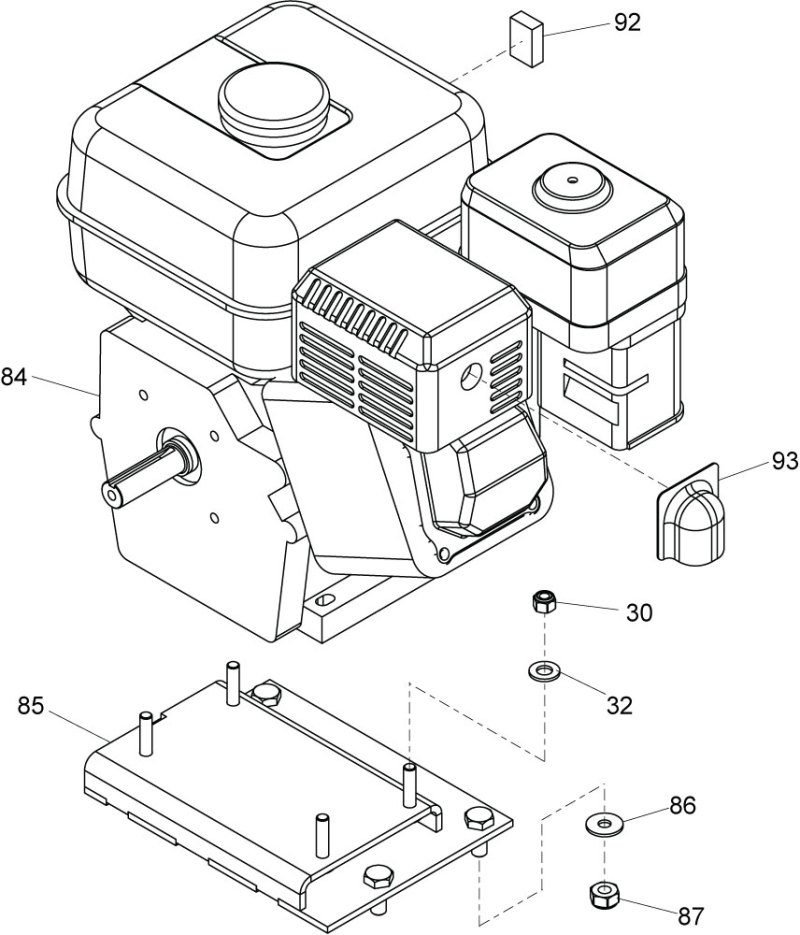 honda gx160 spare parts list