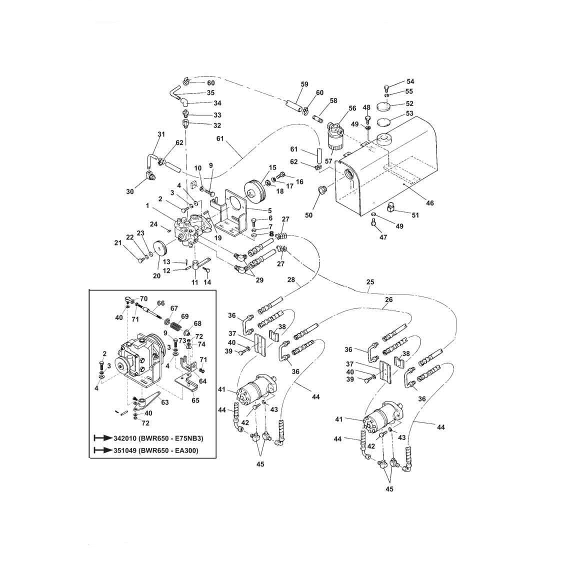 Bwr650roller Oil Unit Belle Group Roller Compactor Parts