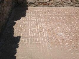 Paestum - Mosaik am Boden