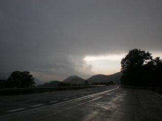 Autobahn Richtung Contursi