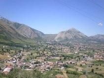 Teggiano - Blick auf die umliegenden Berge