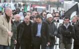 Veronas Bürgermeister Flavio Tosi (Lega Nord) bei einer Demonstration der Fiamma Tricolore mit Andrea Miglioranzi und Piero Puschiavo.