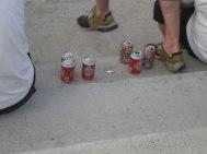 Irgendwann klappte der Bier-Nachschub dann doch.