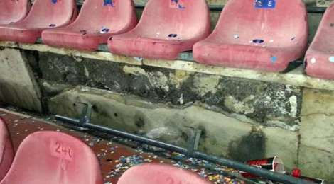 stadio in degrado