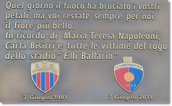 Gedenktafel für Carla und Maria teresa