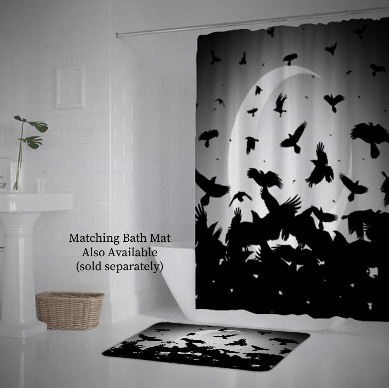 raven shower curtain 69 x 75