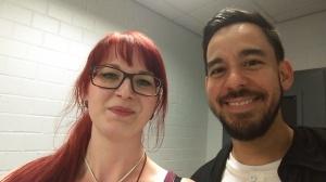 AltWire's EU Correspondent Melissa Wilke with Linkin Park's Mike Shinoda