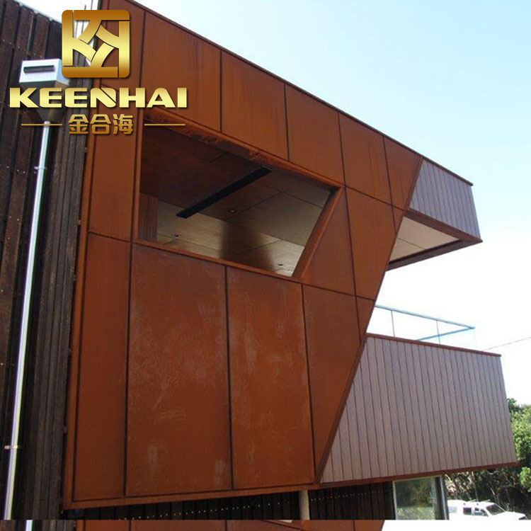 Corten Steel Metal Curtain Wall Manufacturers And