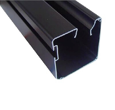 matt black anodized aluminum profile
