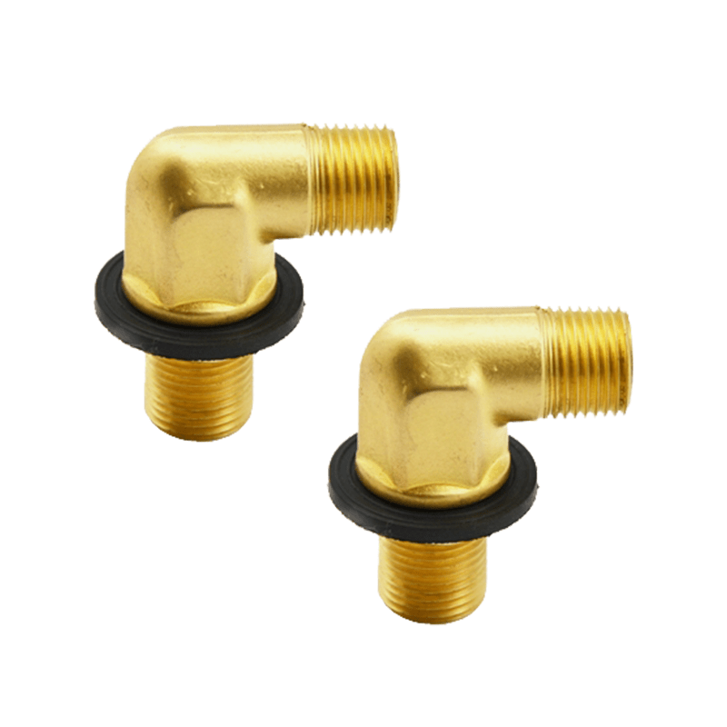 wall faucet mounting kit with 1 2 npt male x female ells