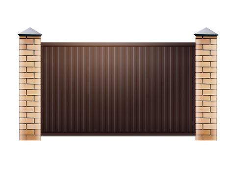 Откатные ворота с электроприводом под ключ, цены производителя