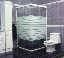 Canceles para baño de aluminio y cristal templado
