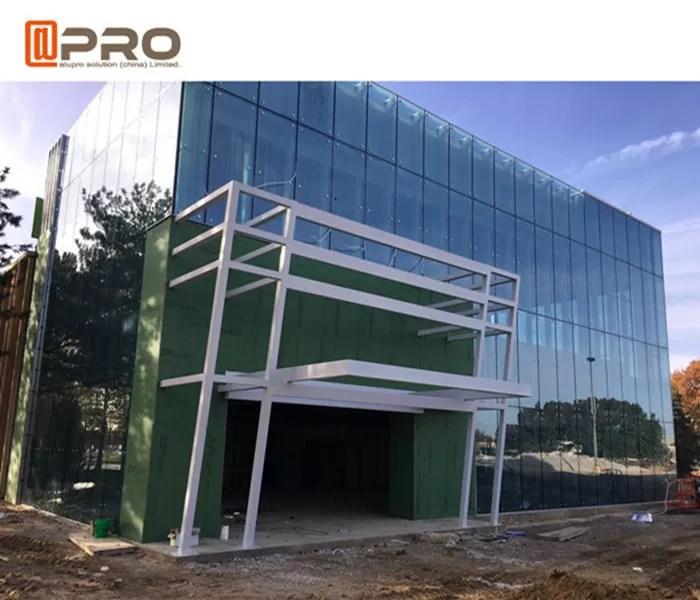 e glass facade aluminum curtain wall system