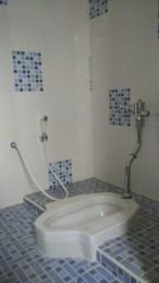 desain kamar mandi minimalis kloset jongkok dengan shower 2