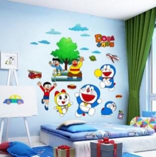 Desain Kamar Tidur Serba Doraemon Yang Imut