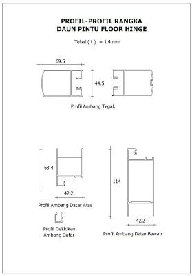 Profil Pintu Aluminium Swing