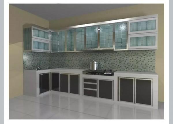 kitchen set aluminium gantung