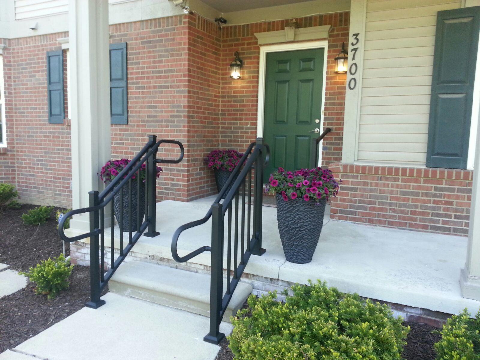 The Proper Handrail Height Aluminum Handrail Direct | Outdoor Handrails Near Me | Handrail Ideas | Metal | Wrought Iron Railings | Stair Railings | Steel Handrail