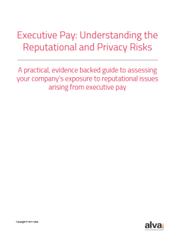 Executive Pay: Understanding the Reputational and Privacy Risks