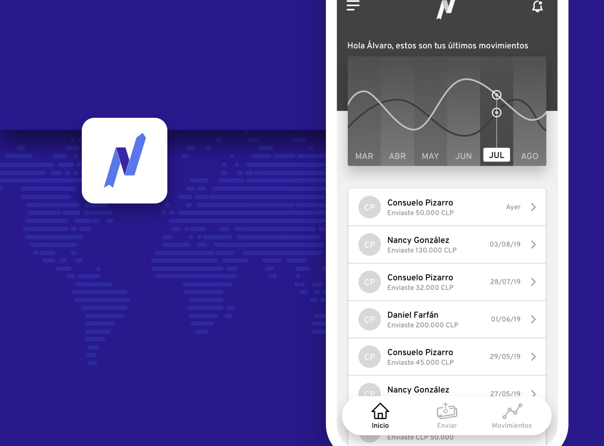 New Ventures: Aplicación móvil para envío de dinero