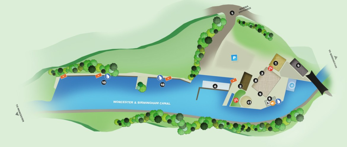Alvechurch Marina Map for Marina Services
