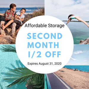 Affordable Storage August Special: second Month Half Off!