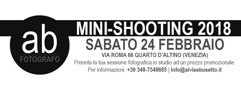 promozione mini shooting 2018 febbraio alvise busetto fotografo mestre venezia studio fotografico blog