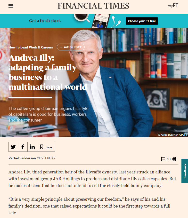 financial times andrea illy illycaffè alvise busetto photographer
