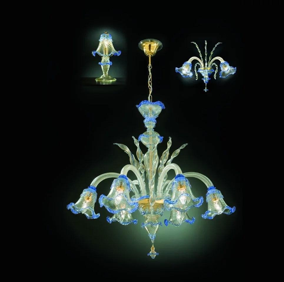 lampadario vetro di murano trasparente e rosa 3xe14 originale con certificato. Lampadari In Vetro Di Murano Alvise Giustinian