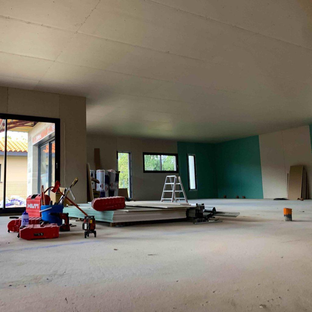 ALVITPLAQUISTE-Chantier-Villelongue-de-la-Salanque-Maison-Architecte-Villa-Placo-Joints-Jointeur-1