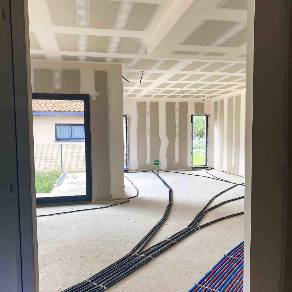 ALVITPLAQUISTE-Chantier-Villelongue-de-la-Salanque-Maison-Architecte-Villa-Placo-Joints-Jointeur-11