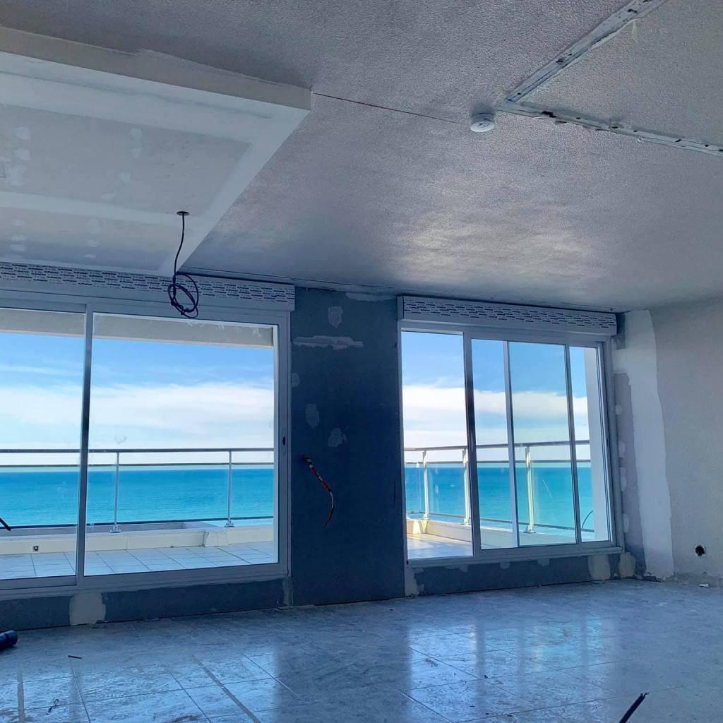 ALVITPLAQUISTE-Chantier-Renovation-complete-Canet-Etage-Appartement-Placo-Joints-Jointeur-4