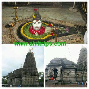 त्रयम्बकेश्वर महादेव मंदिर के सुंदर दृश्य