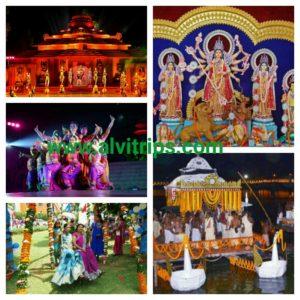 ओडिशा के त्योहार के सुंदर दृश्य