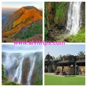 शिमोगा कर्नाटक के पर्यटन स्थलों के सुंदर दृश्य