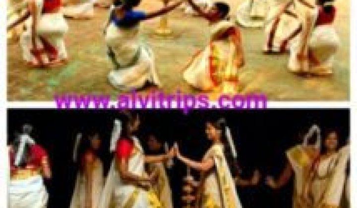 तिरूवातिरा कली नृत्य फेस्टिवल केरल की जानकारी हिन्दी में