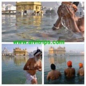स्वर्ण मंदिर अमृत सरोवर स्नान
