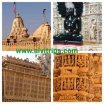 लोद्रवा जैन मंदिर के सुंदर दृश्य