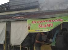 Es Lontrong, Wisata kuliner murah di Slawi, Tegal