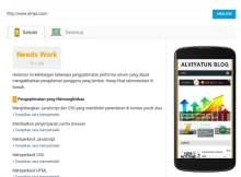 Tes kecepatan situs dekstop dan seluler menggunakan Tools Gratis dari Google Tes Speed insigth
