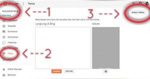 Pilih Blog yang akan di download, Pilih Tema, Klik backup atau Pulihkan