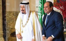 الملك سلمان وعبد الفتاح السيسي