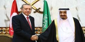 سلمان بن عبد العزيز آل سعود و رجب طيب أردوغان