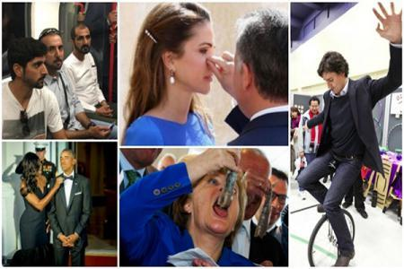 صور سياسيون تخلوا عن الدبلوماسية فالتقطتهم الكاميرات بتصرفات غريبة!