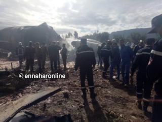 الطائرة سقطت جنوبي العاصمة الجزائر (نقلاً عن قناة النهار)